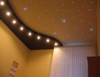 натяжные потолоки пвх в комнате
