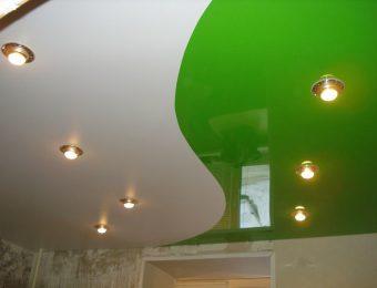 бесщелевые комбинированные натяжные потолки