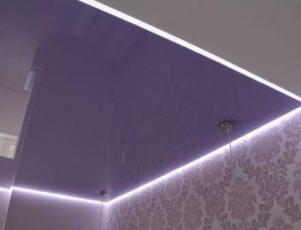 бесщелевые парящий натяжной потолок