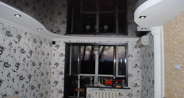 Черные натяжные потолки в Рязани