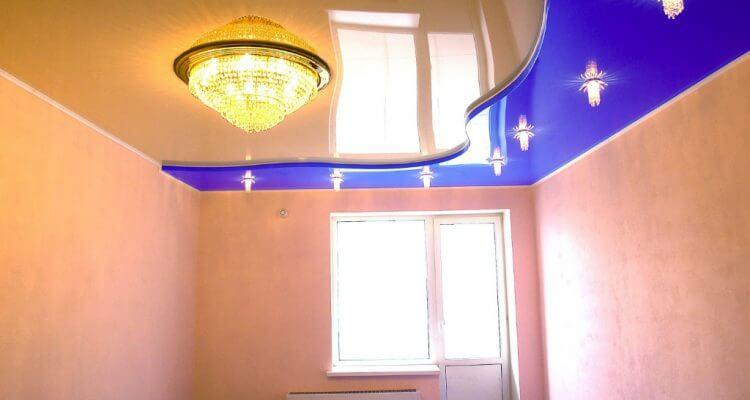 Двухуровневые натяжные потолки в Рязани