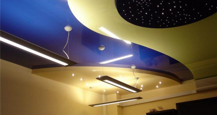 Многоуровневые натяжные потолки в Рязани