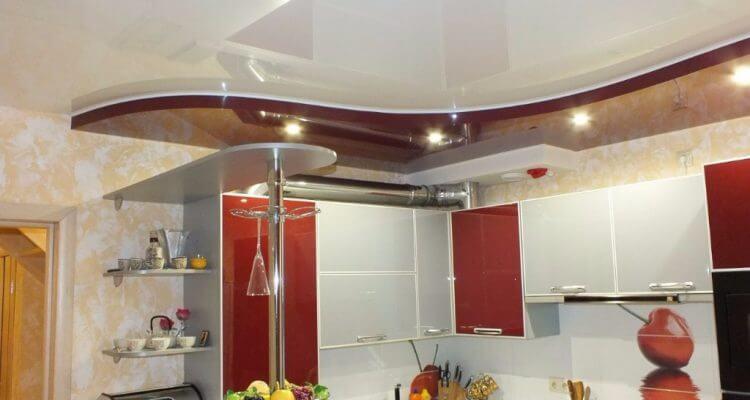 Натяжные потолки на кухне в Рязани