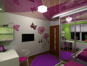 натяжные потолки в детской комнате без нагрева